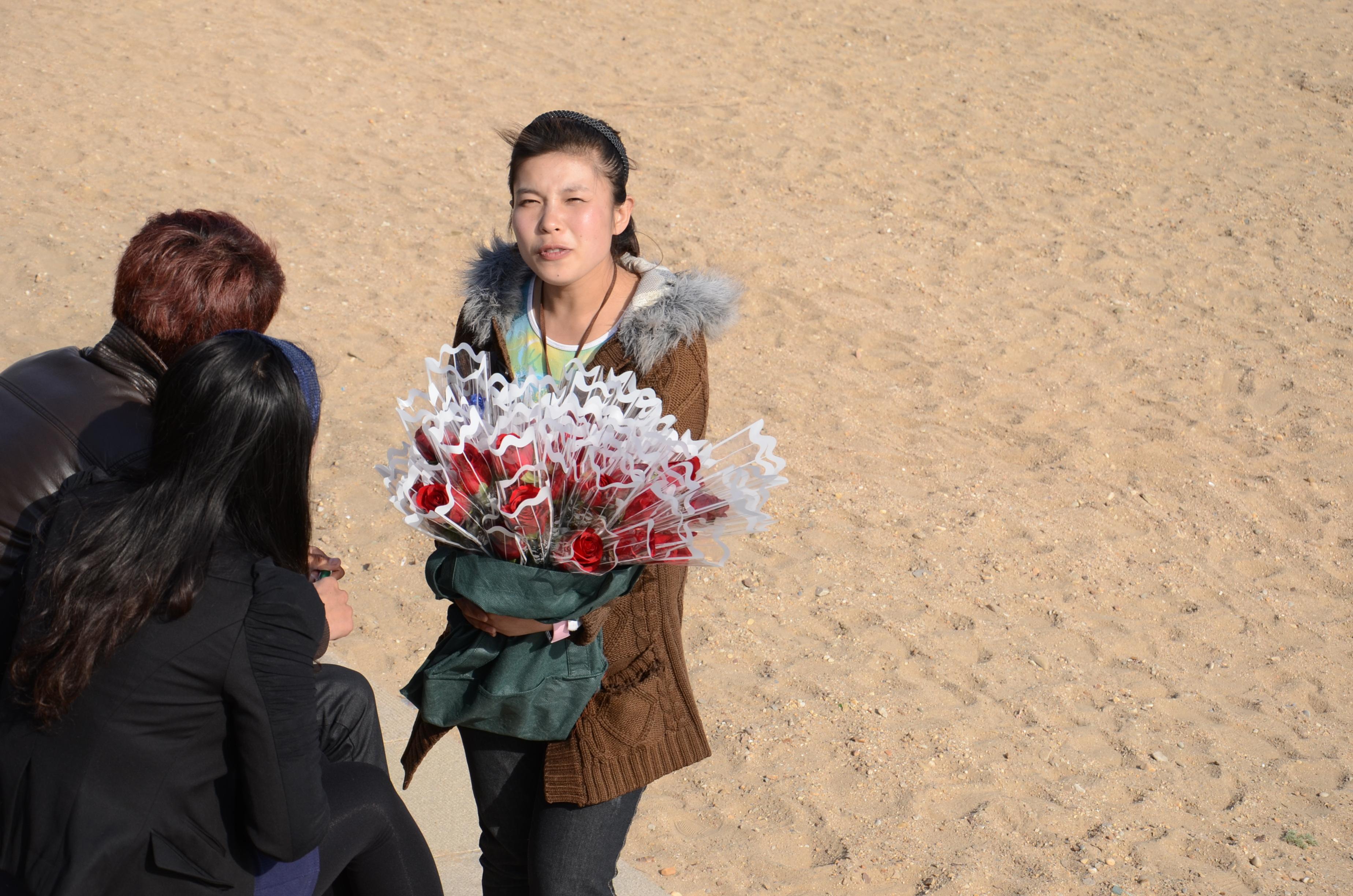 卖花的美女