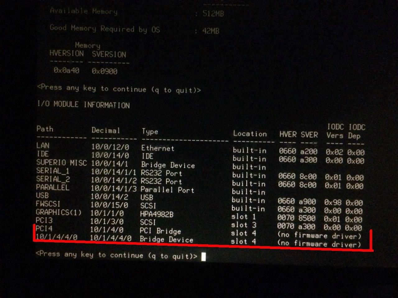 IO自检信息显示no firmware driver