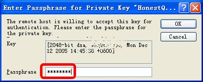 如果图7.JPG的Passphrase为空,那么这里将无需密码;但是你需要自己保证证书不要落入他人之手